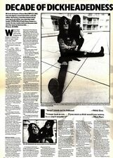 26/10/91 Pgn20/21/59 Article & Picture Motley Crue Discuss A decade Of Dickheade
