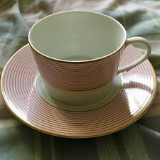 Lovely Raynaud Limoges Ceralene Pink Crinoline Cup(s) and Saucer(s)