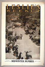 Leslie's Weekly Magazine - January 10, 1907 ~ cover only ~ Arthur E. Jameson art