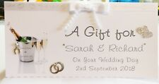 Personalised  Money/Voucher/Gift Card Wallet WEDDING DAY CONGRATS