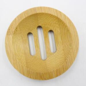 Natural Wood Round Soap Dish Holder Soap Box Bathroom Soap Dish 8CM