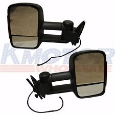 LED SIGNAL Manual Towing Tow Hauling Mirror PAIR 88-98 Chevy C/K 1500/2500/3500