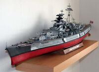 1:200 Scale DIY Nazi German Battleship Bismarck Handcraft Paper Model Kids Gift