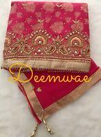 Indian Unstitched Shalwar Kameez Wedding Party wear ( more colours added )