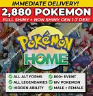 Pokemon Home 2880 Pokemon COMPLETE Gen 1-7 DEX, 800+ EVENT, ALL Forms, Legendary