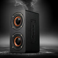 Wooden Wireless Bluetooth Speaker Super Bass Stereo Portable Subwoofer FM Radio