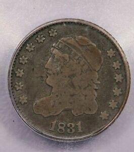 1831-P 1831 Capped Bust Half Dime H10C ICG VG08 Details