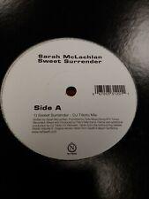 "SARAH MCLACHLAN - SWEET SURRENDER / I LOVE YOU 12"" REMIX VINYL LP"