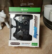 NEW Xbox One Official Licensed Liquid Metal Wired Controller Black FREE SHIPPING