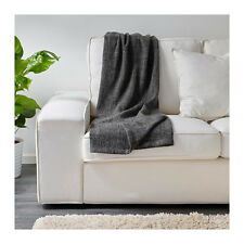 IKEA GURLI Blanket Bed Couch Sofa Knee Lounge Throw Rug in Grey Black  180x120cm cda57da429fc