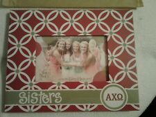 """Alpha Chi Omega Sisters Picture Frame By Glory Haus Red 10"""" x 8"""", Photo 4"""" x 6"""""""