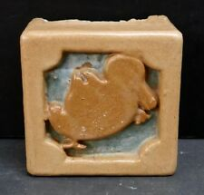 Vintage Ceramic Architectural Block with Duck