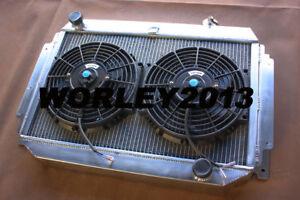 Aluminum radiator + fan for HOLDEN HG HT HK HQ HJ HX HZ V8 Chev engine MT