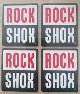 2 Stück ROCK SHOX Aufkleber Fahrrad Gabel Rahmen Dekor Sticker Decal