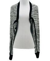 CAbi #3103 Women's Black Long Sleeve Horizontal Shrug Cardigan Size Medium