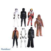 "7 Large Starwars Figures 11"" Tall - Hasbro"