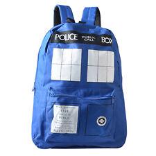 Dr. Who Tardis Backpack Back to School Bag Blue Rucksack Lots 【US Stock】