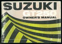 Owner's Manual SUZUKI GT 250 K 1972 - 1973 Owners Manuel Propriétaire en Anglais
