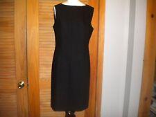 Giorgio Armani Le Collezioni Wool Sheath Career Dress Simple Lines Size 10 #6189