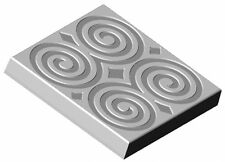 Spirals Plastic MOLD for concrete cement, plaster, resin.