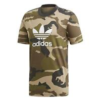 adidas ORIGINALS MEN'S CAMOUFLAGE TREFOIL T-SHIRT TEE CREW NECK SHORT SLEEVE NEW