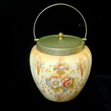 Antique Crown Devon Fieldings Spring- Biscuit Barrel/Jar - Blushware