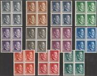 Stamp Germany Poland General Gov't Mi 071-81 Sc N76-86 Block 1941 WW2 Hitler MNH
