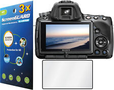 3x Clear LCD Screen Protector for Sony Alpha DSLR-A33 SLT-A33V DSLR-A55 SLT-A55V