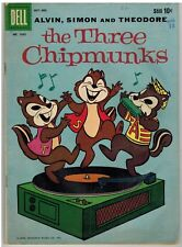 ALVIN SIMON AND THEODORE THE THREE CHIPMUNKS FOUR COLOR #1042 (#1) 1959!