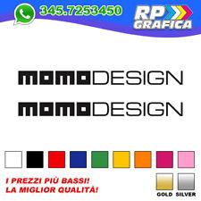 COPPIA 2 ADESIVI MOMO DESIGN sticker CASCO MOTO AUTO