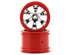 "Traxxas 1/16 Mini E-Revo Summit 2.2"" Geode Red 12mm Hex Wheel Rims (2) #7271"