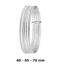 Dolly-Bijoux Bracelet Jonc Scultés Semainier 60 mm Argent Massif 925