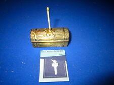 C. 1880 BRASS DESK TABLE GO TO BED MATCH HOLDER VESTA CASE MATCH SAFE STRIKER