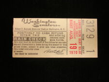 August 19, 1970 Kansas City Royals @ Washington Senators Ticket Stub