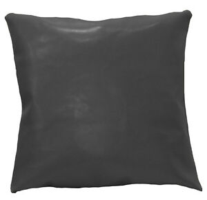 pe248a Grey Faux Leather Classic Pattern Cushion Cover/Pillow Case Custom Size