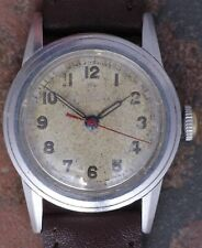 Omega 1939 Vtg Stainless Steel Case Radium Dial 15j  23.4SC Serviced New Band
