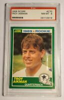1989 Score Football Troy Aikman  #270 NM-MT 8