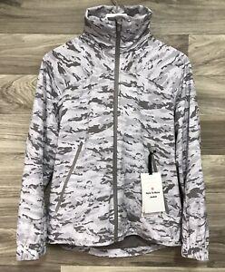 Lululemon Here To Move Jacket Size 6 Evergreen Camo Pink Multi EVCA 75473