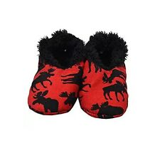 LazyOne Fuzzy Feet Classic Red Moose Slippers Size S/M (4/6) SO COMFY!!!!