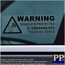 5 x Dispositivo de rastreo GPS advertencia a bordo Pegatinas-Negro-Coche, Furgoneta, barco, bici, signo
