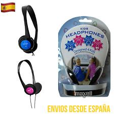 Auriculares MAXELL KIDS Especiales niños Azul y Rosa Protección Volumen De Arco