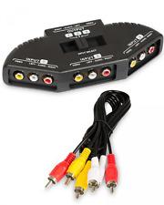 Fosmon Technology 3-Way Audio / Video RCA Switch Selector / Splitter Box & AV