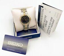 Seiko 7N42-0CV0 2-Tone Stainless Genuine Diamond Dial Mint Mens Watch! 13