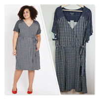 [ AUTOGRAPH ] Womens Ditsy Striped Dress NEW + TAGS  | Size AU 20 or US 16