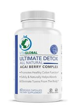 Ultimate Detox Acai Berry Complex All Natural by VITAGLOBAL 60 Capsules