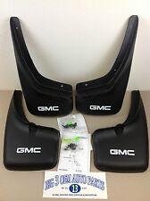 1999-2007 GMC Sierra Front & Rear w/o Wheel Flares Molded MUD FLAPS GMC Logo OEM