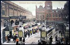 UK~ENGLAND ~ 1917 LONDON ~ LIVERPOOL STREET STATION ~ Main Line Way in for Cabs