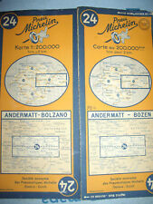 Carte michelin 24 andermatt bozen 1949