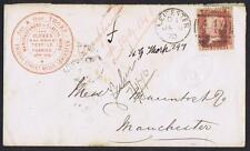 1870 1d Pl 108 Ad used on Printed Leicester Gloves envelope