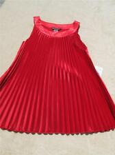 BIANCA NYGARD DRESSED TO IMPRESS SLEEVELESS RED BLOUSE MISSES SIZE S; NWT $58